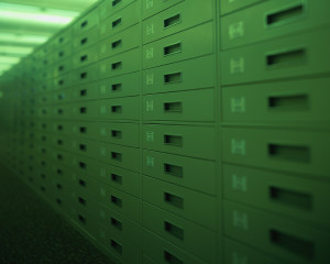 Rows of Drawers at Library ca. 2001