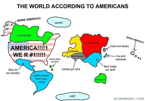 World According to Americans - Marean